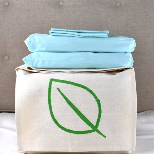 Aquamarine organic cotton bedding set 1