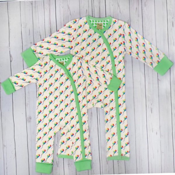 Kites organic cotton baby grow 2