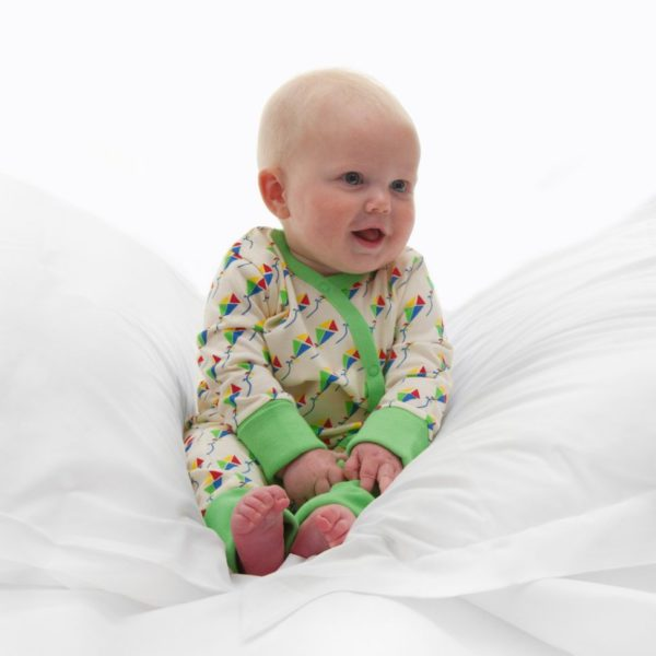 Kites organic cotton baby grow 3