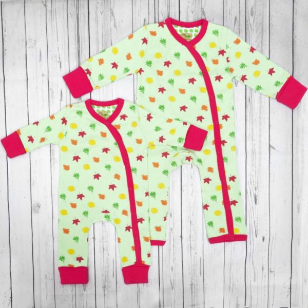 Leaves organic cotton baby grow 3