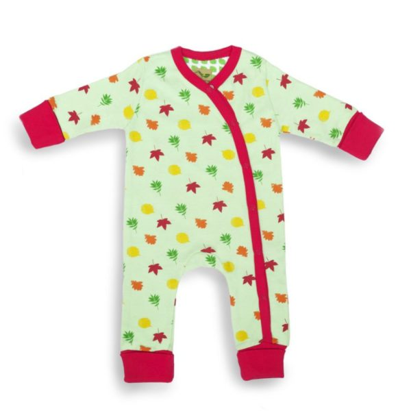 Leaves organic cotton baby grow 1