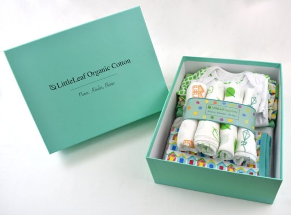 Large organic cotton baby gift box 5