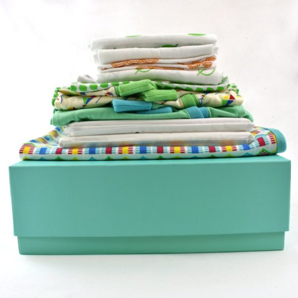Large organic cotton baby gift box 2