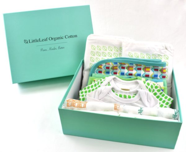 Large organic cotton baby gift box 3