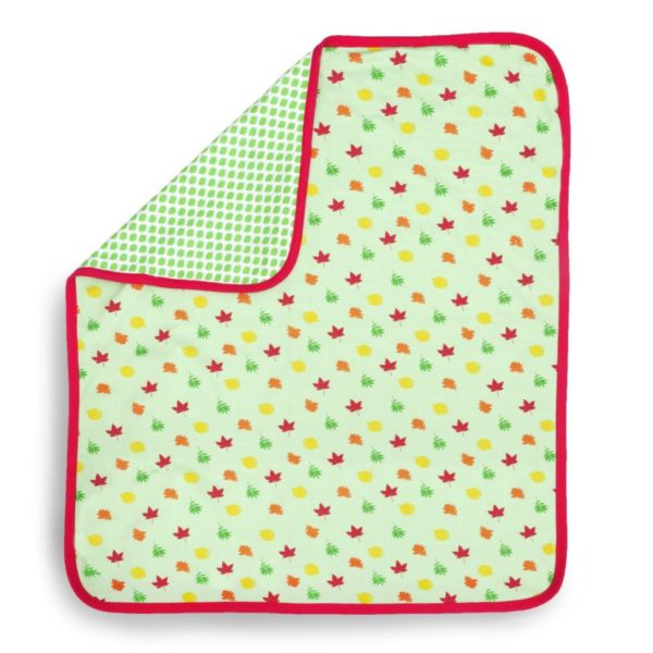 Leaves Baby Organic Blanket 1
