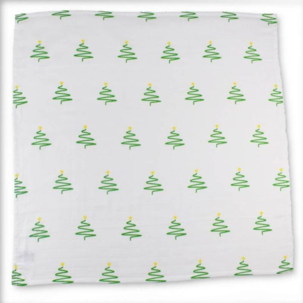 Christmas tree muslin- 100% organic cotton 1