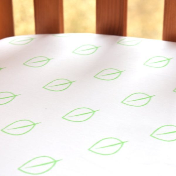 Fitted Cot Bed Sheet (Leaf Print) 1