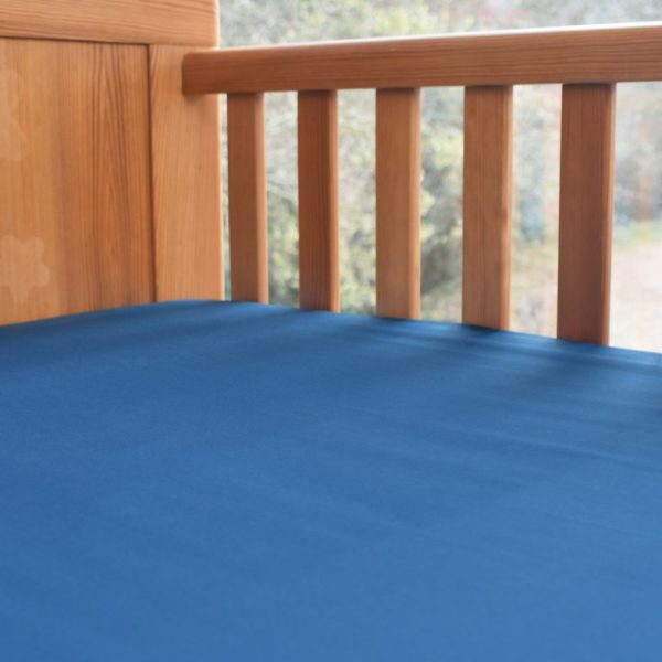 Ocean blue cot bed sheet - fitted 1