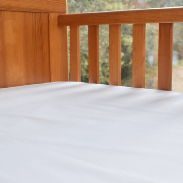 White Cot Bed Sheet (Flat Or Fitted) 2