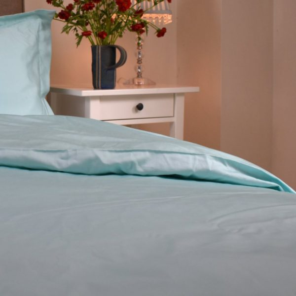 Aquamarine organic cotton duvet cover 4