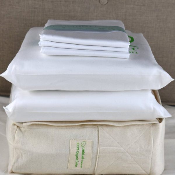 White organic cotton bedding set 2
