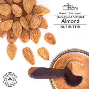 Activated organic almond butter: intensely velvety natural nut butter
