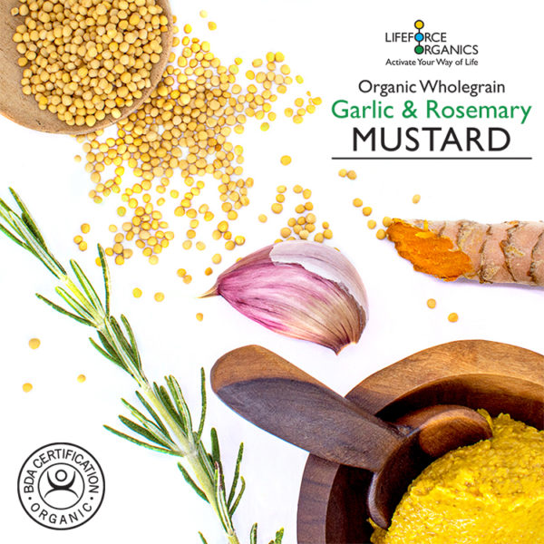 Organic mustard:  the mild, spicy flavor you love