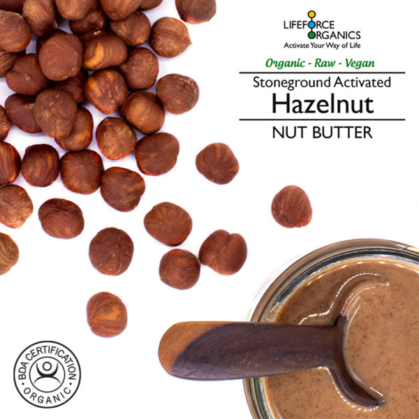 Activated organic hazelnut butter : delicious indulgent taste