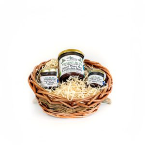 Vegan, gluten free and plastic free gift basket