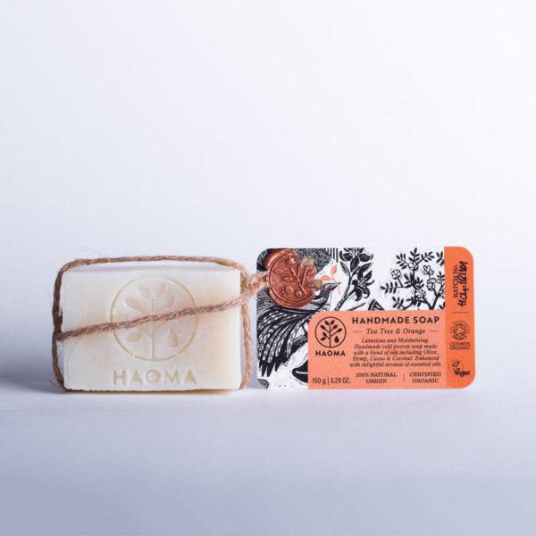 Handmade Organic Soap- Tea Tree &Amp; Orange