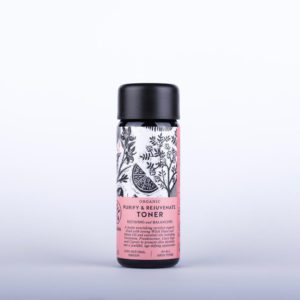 Organic Purify and Rejuvenate Toner to promote skin elasticity and a youthful, age defying appearance