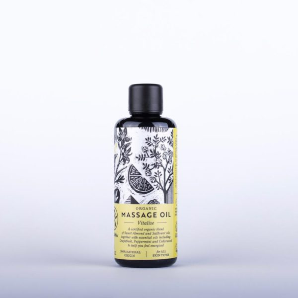 Certified Organic Blend Of Sweet Almond And Safflower Oils Together With Essential Oils Including Grapefruit, Peppermint And Cedarwood To Help You Feel Energised