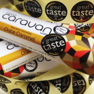 Vegan Chocolate filled with succulent dates and a smooth vegan caramel based on cashew nut, coconut and coconut sugar