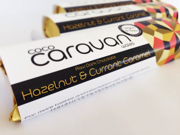 Raw - Organic - Vegan Chocolate, Hazelnut Currant & Caramel