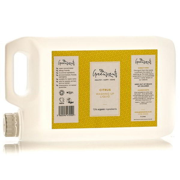 Organic washing up liquid - available in Citrus, fragrance-free Nonscents