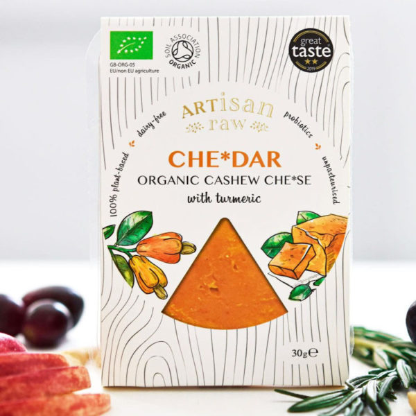 Organic Vegan Cheese. Cheddar Style And Dairy-Free Cheese