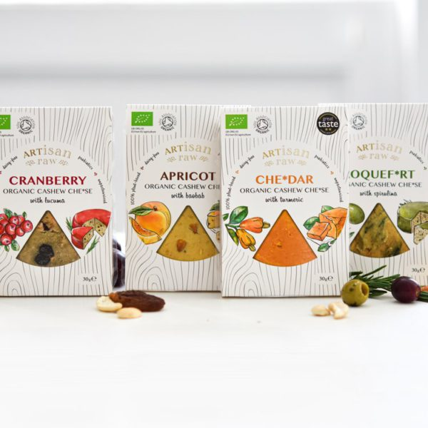 Organic Vegan Cheese Set- A Selection Of Mouth-Watering, Dairy Free Cheese