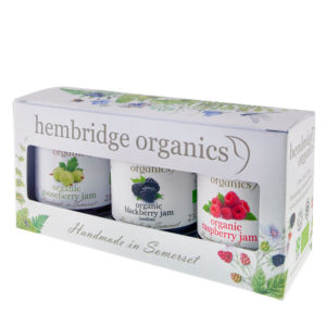 Vibrant and delightful organic jam gift box