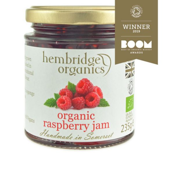 Bursting with the rich fruity flavours - organic raspberry jam