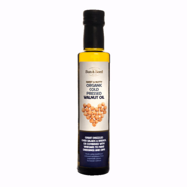 Cold pressed organic walnut oil - highly nutritious
