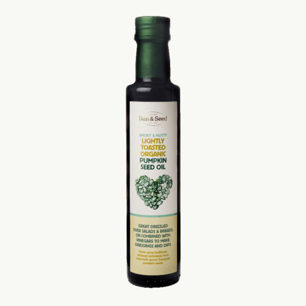 Organic lightly toasted pumpkin seed oil - unique flavour