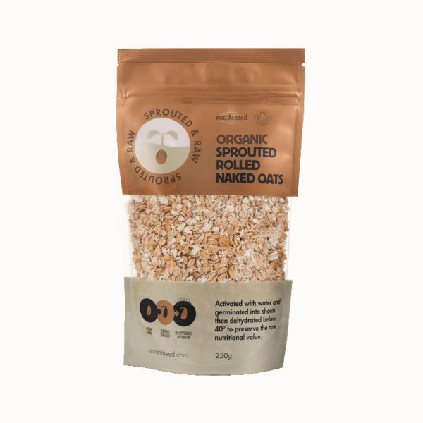 Sprouted &Amp; Raw Organic Rolled Naked Oats - Delicious Wholegrain