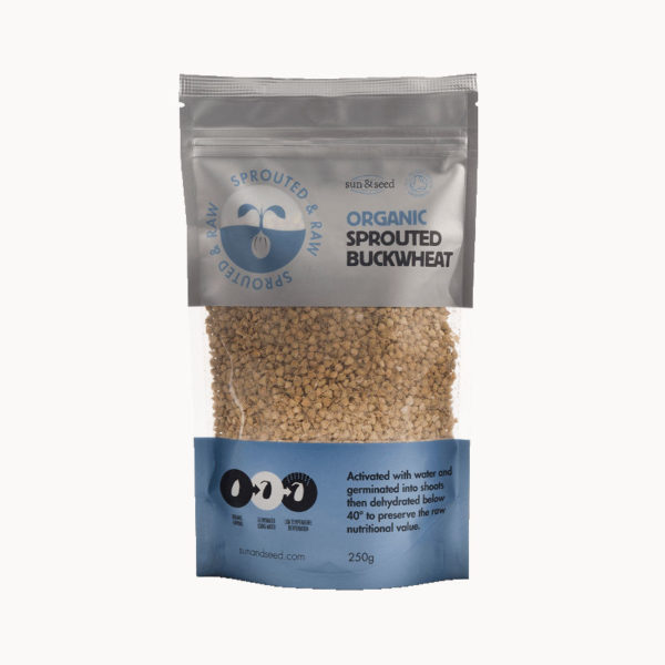 Sprouted & raw organic buckwheat - energizing and nutritious