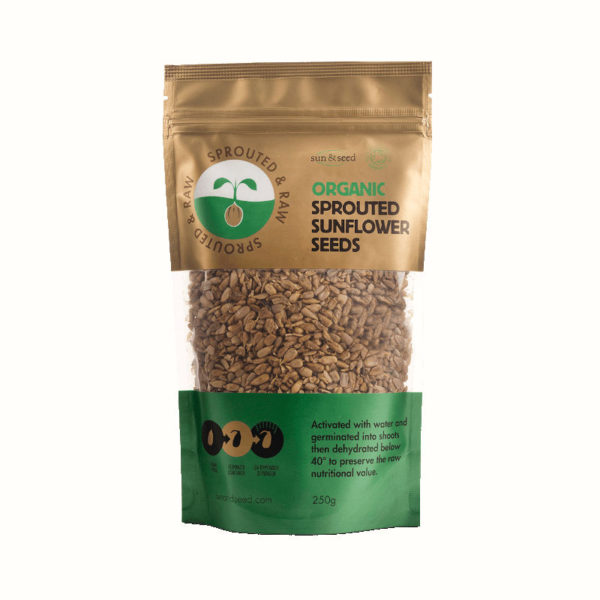 Sprouted &Amp; Raw Organic Sunflower Seeds - Tasty &Amp; Crunchy