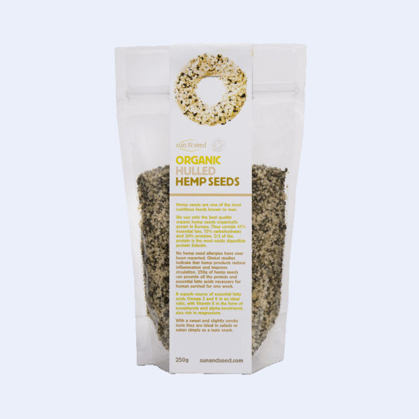 Organic hulled hemp seeds - delicious nutty seeds