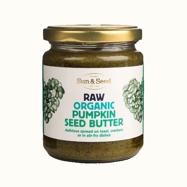 Organic raw pumpkin seed butter - highly nutritious and delicious spread