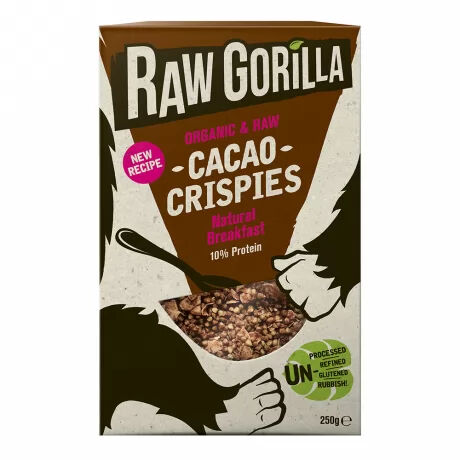 Raw Gorilla organic, vegan cacao crispies–  delicious and nutritious
