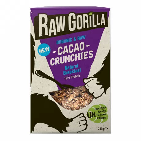 Raw Gorilla organic, vegan cacao crunchies–  delicious and nutritious