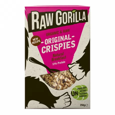 Raw Gorilla organic, vegan original crispies–  delicious and nutritious
