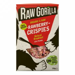Raw Gorilla rawberry crispies–  delicious and nutritious