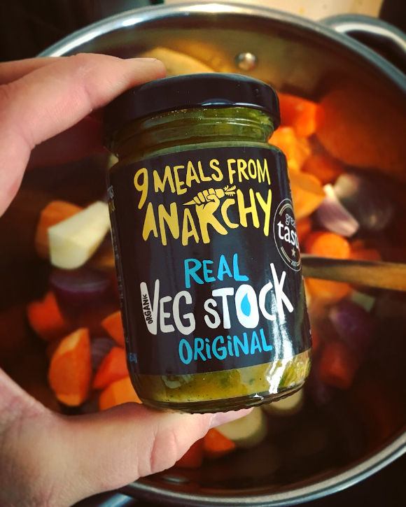 9 Meals From Anarchy makes the most nourishing and best tasting veg stock on the market