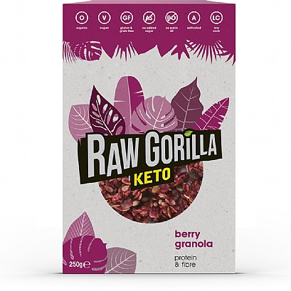 100% Organic, Vegan and KETO Friendly Granola - BERRY 250g 1