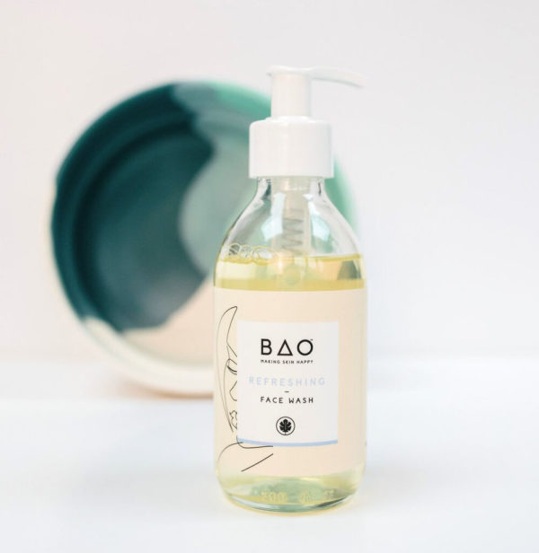 Organic face wash - 100% natural face cleanser with aloe vera and sweet orange