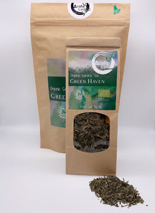 Organic Sencha Green Loose Tea - Delicious Taste With A Honey-Yellow Infusion