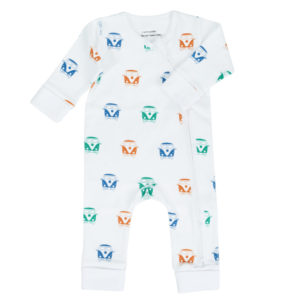 Camper Van organic cotton baby grow
