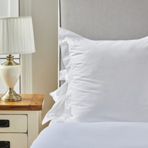 Classic Oxford square organic pillowcase