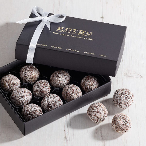 12 Raw Organic Truffles - Coconut Chocolate