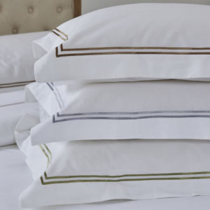Double cord line Oxford organic pillowcases