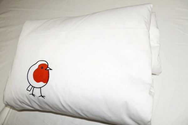 Robin Red Breast Organic Cot Duvet Cover