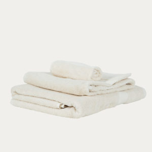 Luxury fairtrade 100% organic cotton towels - natural colour